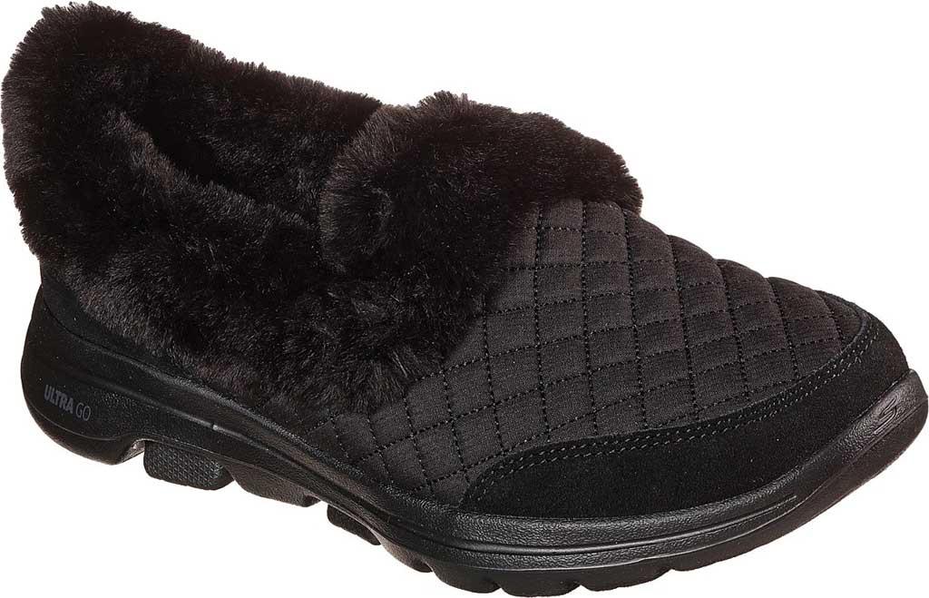 Women's Skechers GOwalk 5 Coziness Sneaker, Black/Black, large, image 1