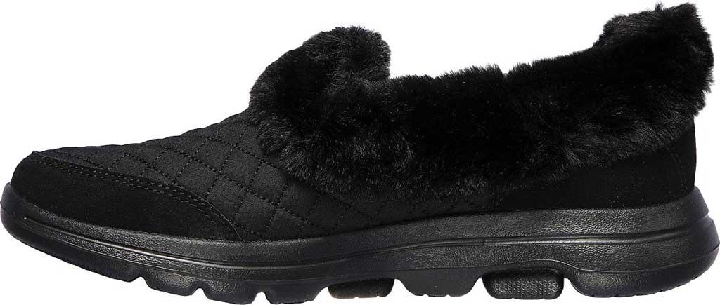Women's Skechers GOwalk 5 Coziness Sneaker, Black/Black, large, image 3