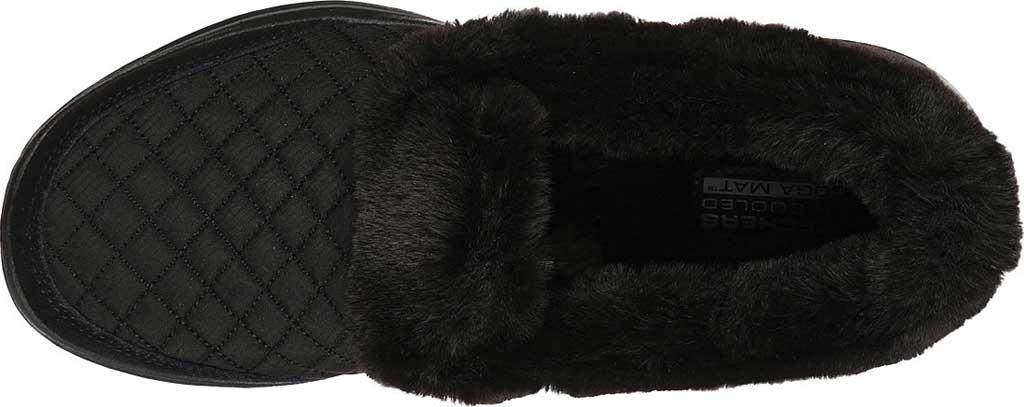 Women's Skechers GOwalk 5 Coziness Sneaker, Black/Black, large, image 4
