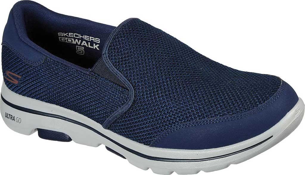 Men's Skechers GOwalk 5 Beeline Sneaker, Navy, large, image 1