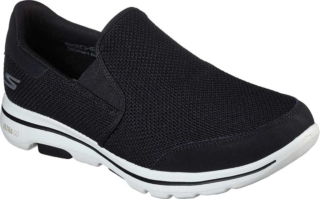 Men's Skechers GOwalk 5 Beeline Sneaker, Black/White, large, image 1