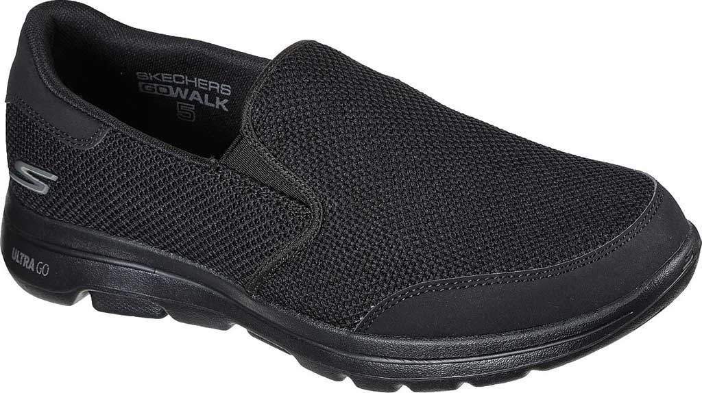 Men's Skechers GOwalk 5 Beeline Sneaker, Black/Black, large, image 1