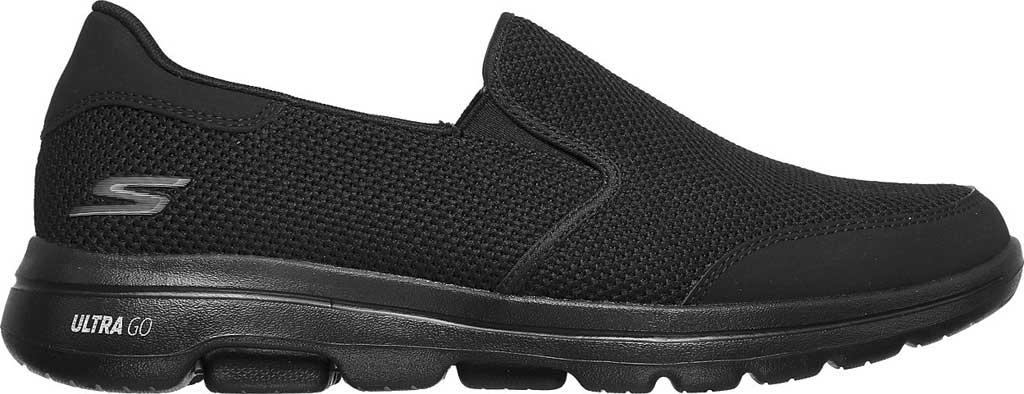 Men's Skechers GOwalk 5 Beeline Sneaker, Black/Black, large, image 2