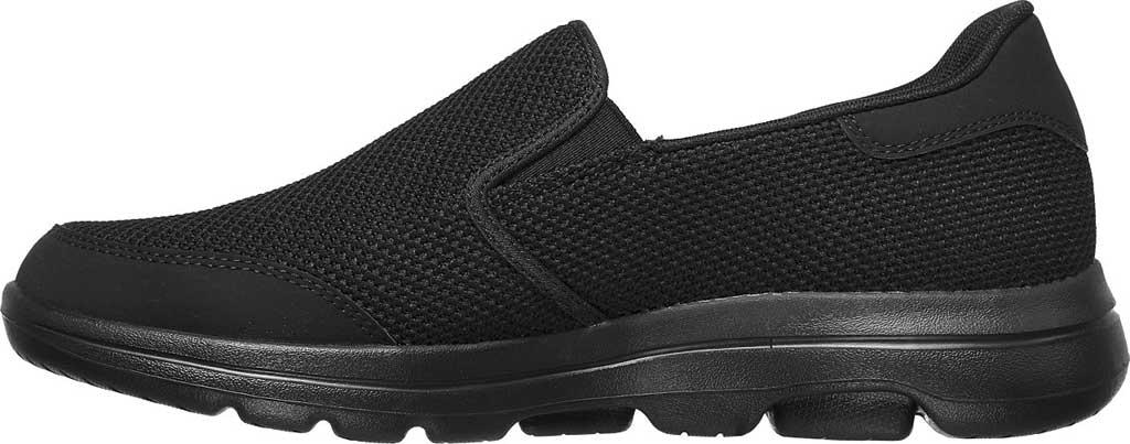 Men's Skechers GOwalk 5 Beeline Sneaker, Black/Black, large, image 3