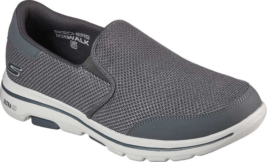 Men's Skechers GOwalk 5 Beeline Sneaker, Gray, large, image 1