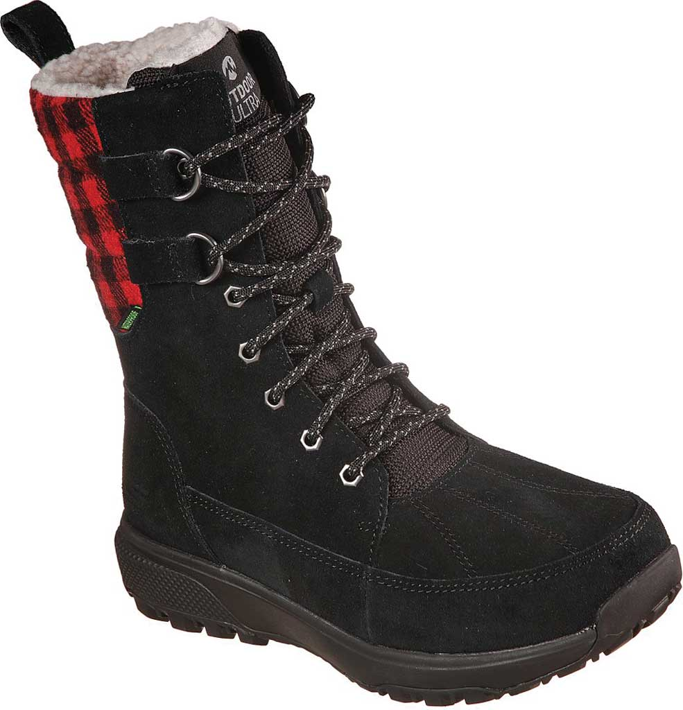 Women's Skechers On the GO Outdoor Ultra Venture Waterproof Boot, Black/Red, large, image 1