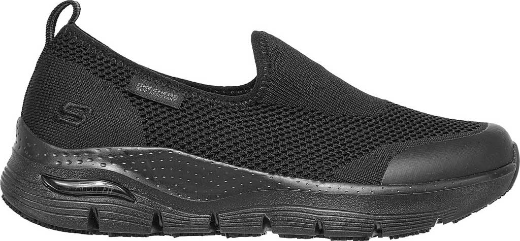 Women's Skechers Work Arch Fit Slip Resistant Absidy Sneaker, Black, large, image 2