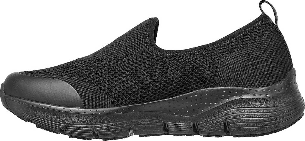 Women's Skechers Work Arch Fit Slip Resistant Absidy Sneaker, Black, large, image 3
