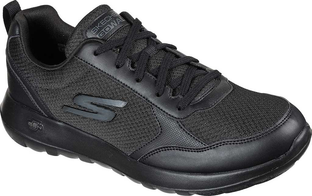 Men's Skechers GOwalk Max Painted Sky Sneaker, Black/Black, large, image 1