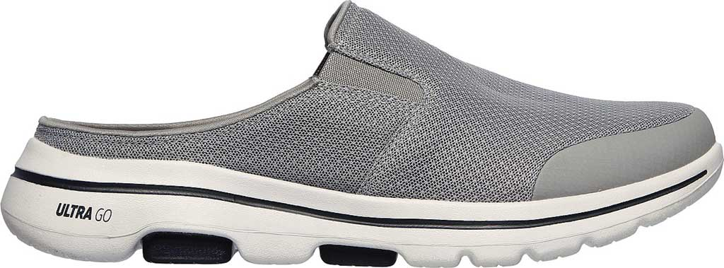 Men's Skechers GOwalk 5 Exposure Backless Sneaker, Gray, large, image 2