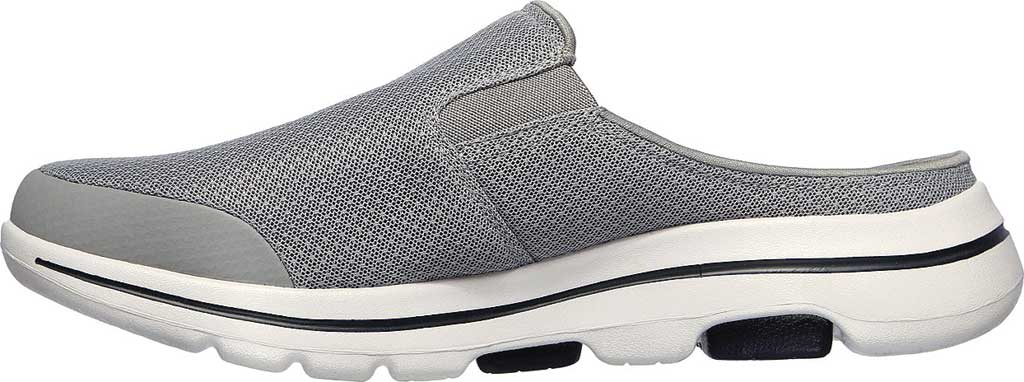 Men's Skechers GOwalk 5 Exposure Backless Sneaker, Gray, large, image 3