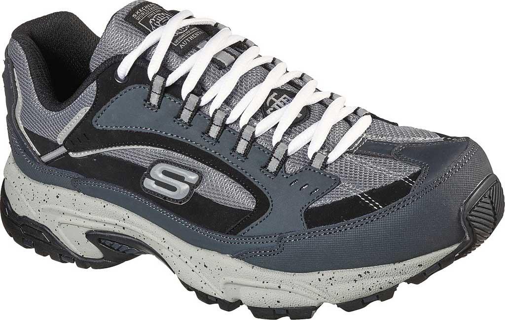 Men's Skechers Work Stamina Slip Resistant Sneaker, Navy/Black, large, image 1