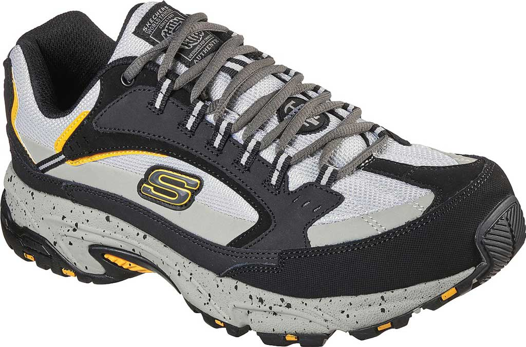 Men's Skechers Work Stamina Slip Resistant Sneaker, Black/Gray, large, image 1