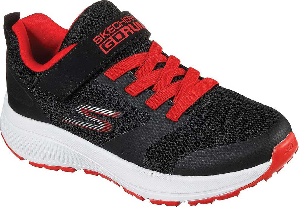 Boys' Skechers GOrun Consistent Sonic Break Trainer, Black/Red, large, image 1