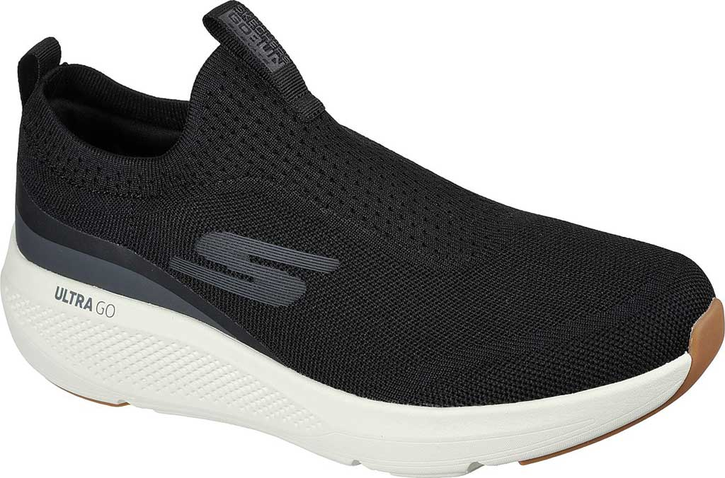 Men's Skechers GOrun Elevate Upraise Trainer, Black/White, large, image 1