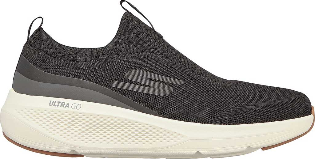 Men's Skechers GOrun Elevate Upraise Trainer, Black/White, large, image 2