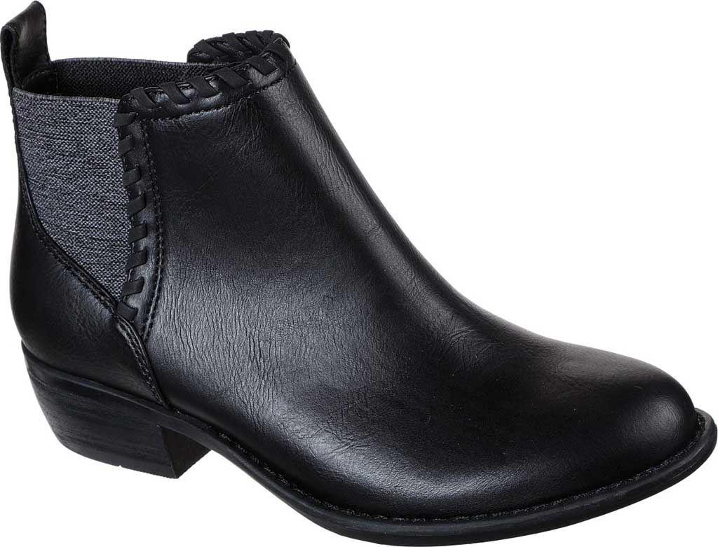 Women's Skechers Texas Fall Crush Bootie, Black/Black, large, image 1