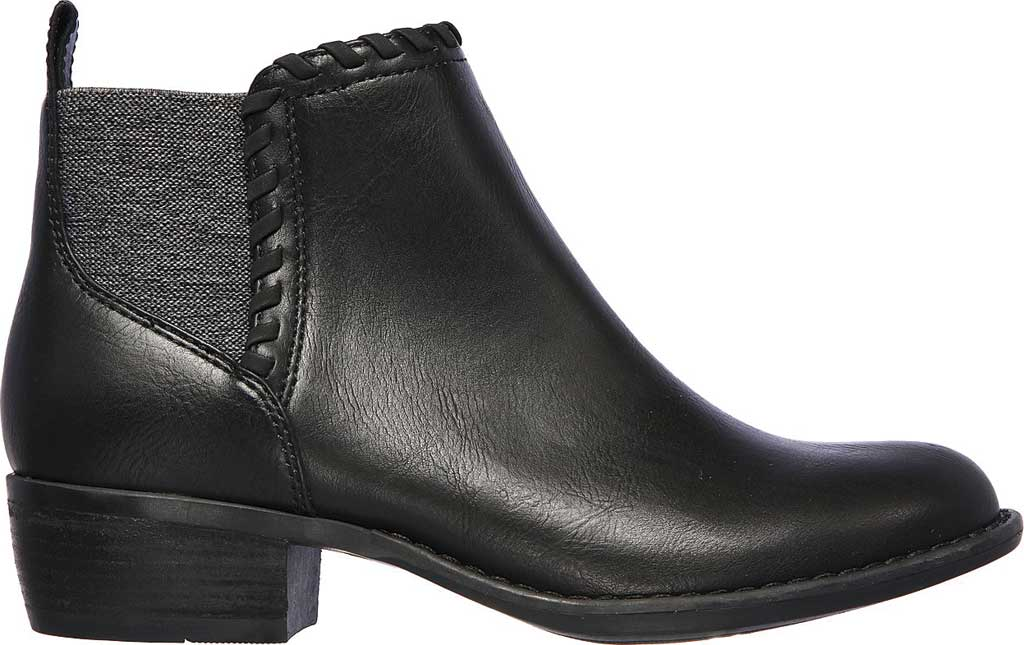 Women's Skechers Texas Fall Crush Bootie, Black/Black, large, image 2