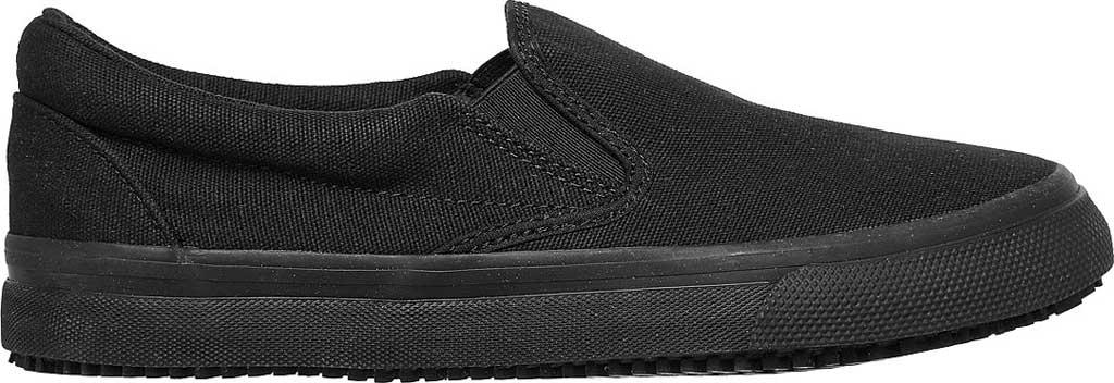 Women's Skechers Work Delvee Slip Resistant Slip On Sneaker, Black/Black, large, image 2