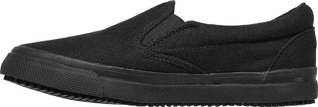 Women's Skechers Work Delvee Slip Resistant Slip On Sneaker, Black/Black, large, image 3