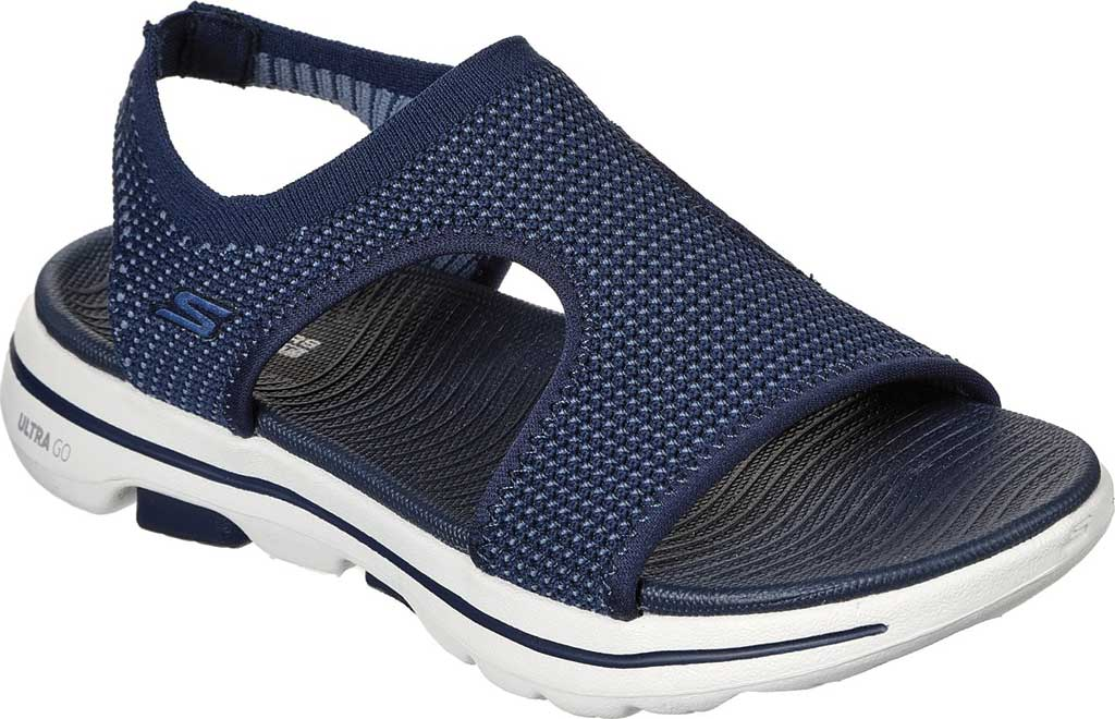 Women's Skechers GOwalk 5 Evolve Active Sandal, Navy, large, image 1