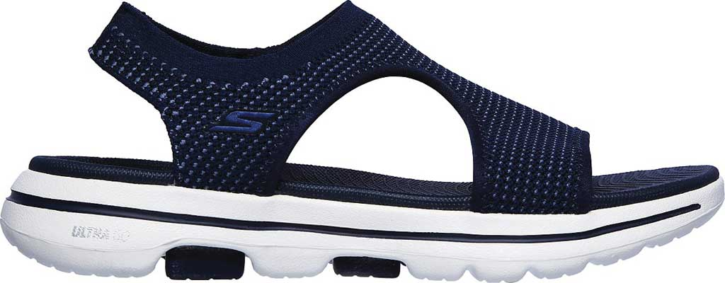Women's Skechers GOwalk 5 Evolve Active Sandal, Navy, large, image 2