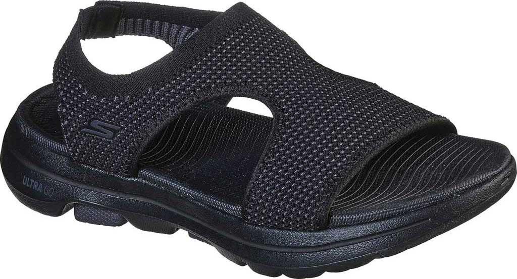 Women's Skechers GOwalk 5 Evolve Active Sandal, Black/Gray, large, image 1