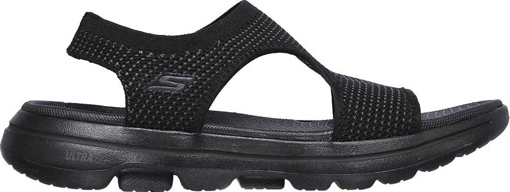 Women's Skechers GOwalk 5 Evolve Active Sandal, Black/Gray, large, image 2