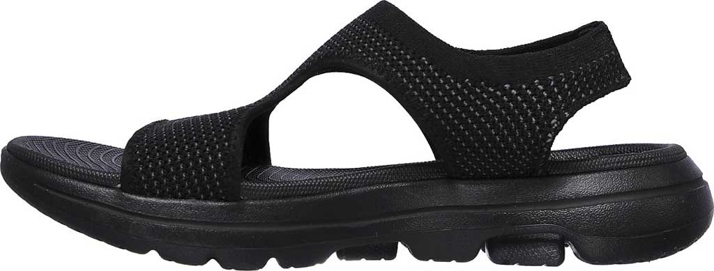 Women's Skechers GOwalk 5 Evolve Active Sandal, Black/Gray, large, image 3