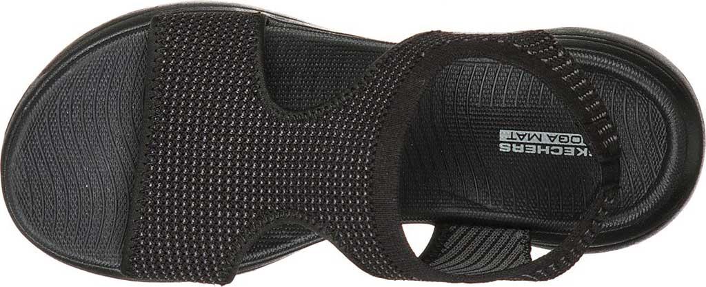 Women's Skechers GOwalk 5 Evolve Active Sandal, Black/Gray, large, image 4