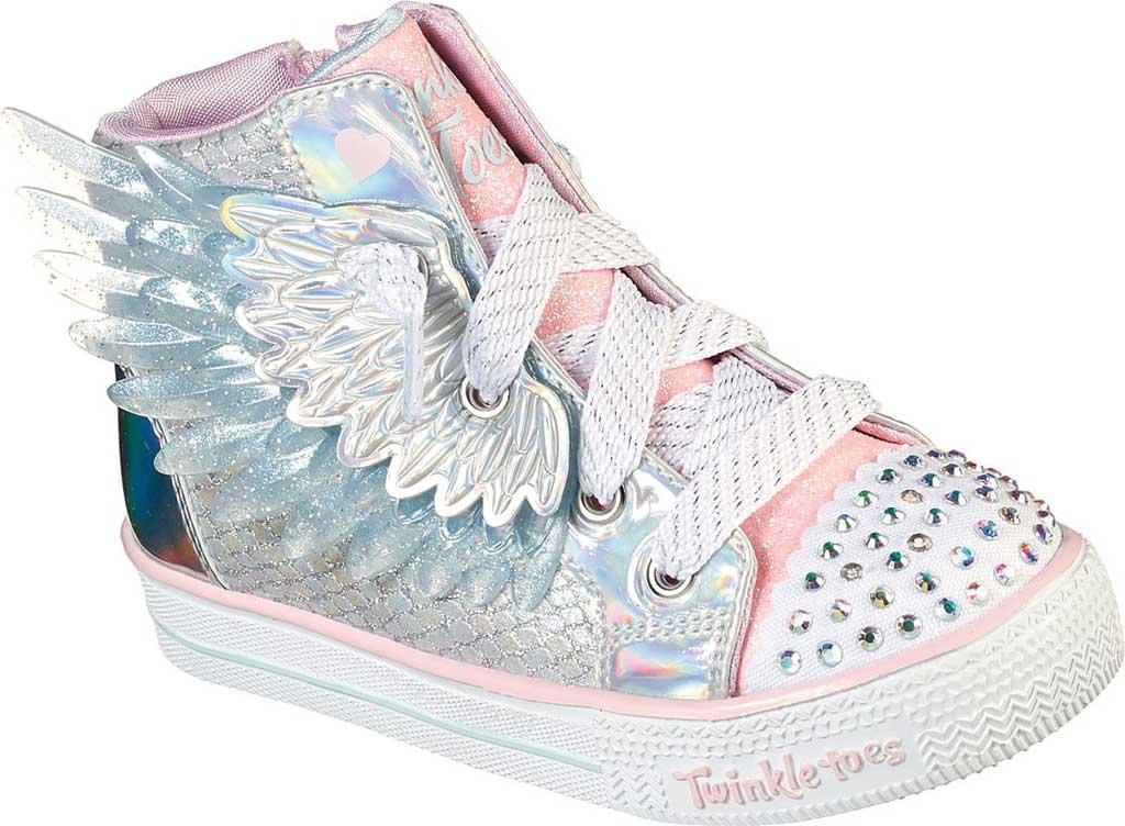 Infant Girls' Skechers TwinkleToes Shuffle Lite Lil Unicorn Wings Sneaker, Silver/Pink, large, image 1