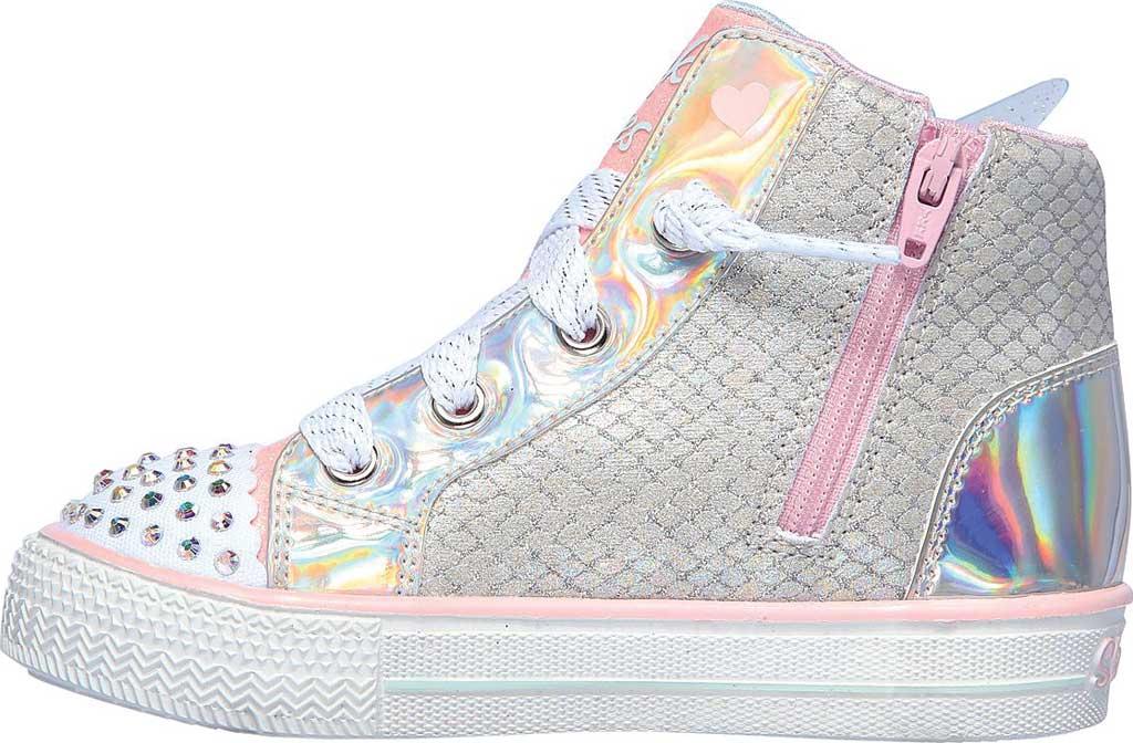 Infant Girls' Skechers TwinkleToes Shuffle Lite Lil Unicorn Wings Sneaker, Silver/Pink, large, image 3