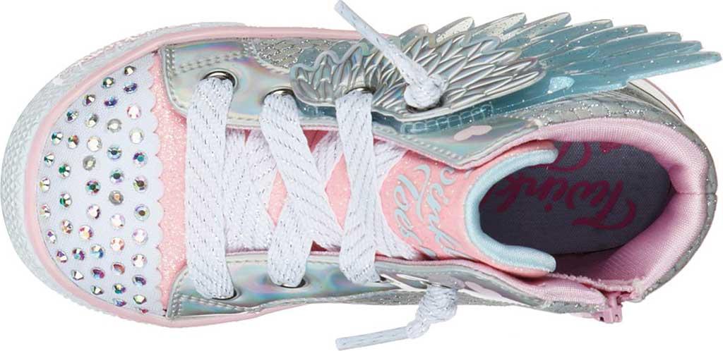 Infant Girls' Skechers TwinkleToes Shuffle Lite Lil Unicorn Wings Sneaker, Silver/Pink, large, image 4