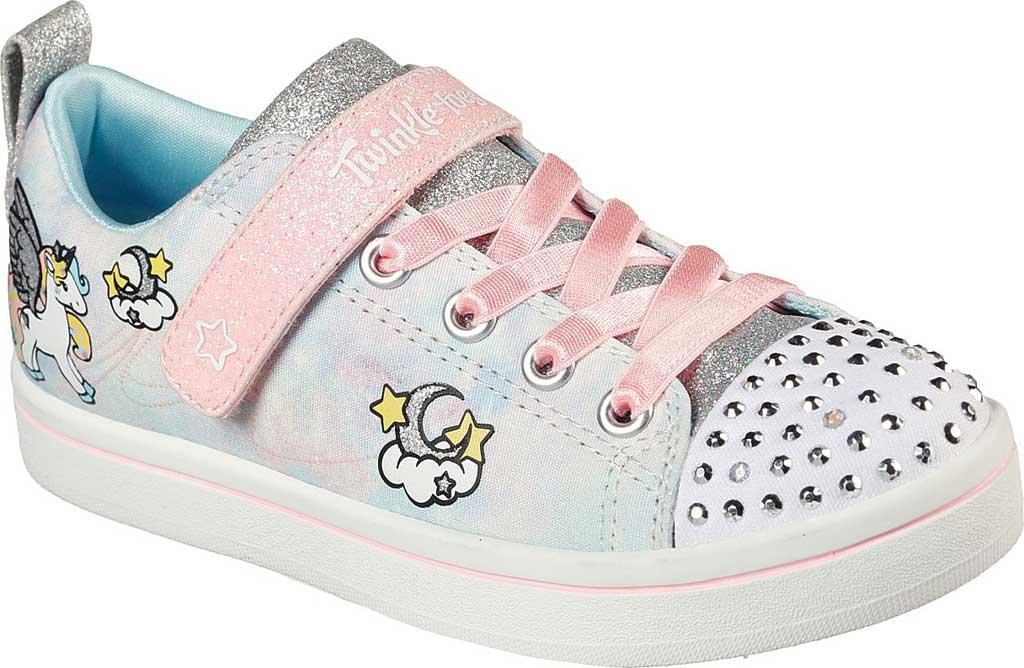Girls' Skechers Twinkle Toes Sparkle Rayz Unicorn Moondust Sneaker, Light Blue/Multi, large, image 1