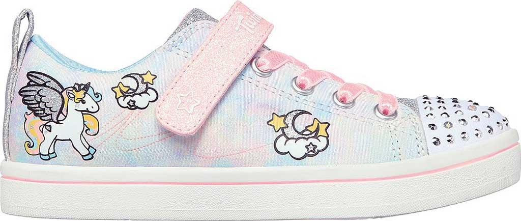 Girls' Skechers Twinkle Toes Sparkle Rayz Unicorn Moondust Sneaker, Light Blue/Multi, large, image 2