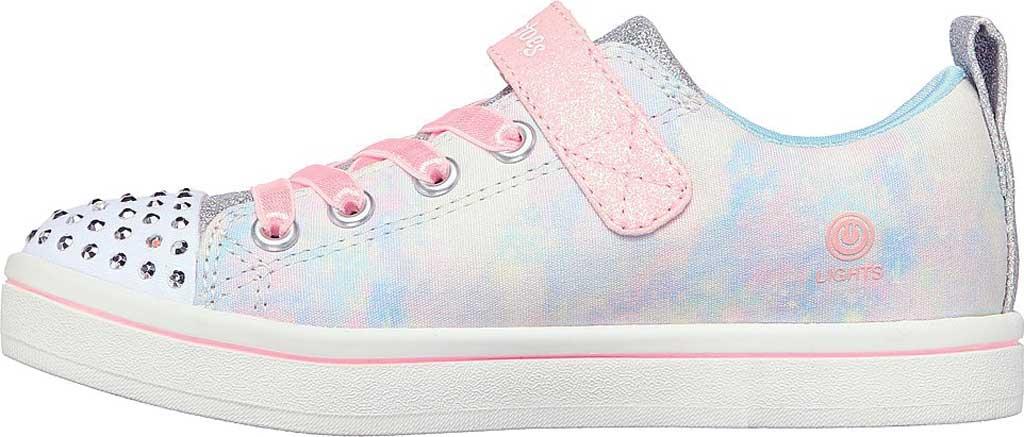 Girls' Skechers Twinkle Toes Sparkle Rayz Unicorn Moondust Sneaker, Light Blue/Multi, large, image 3