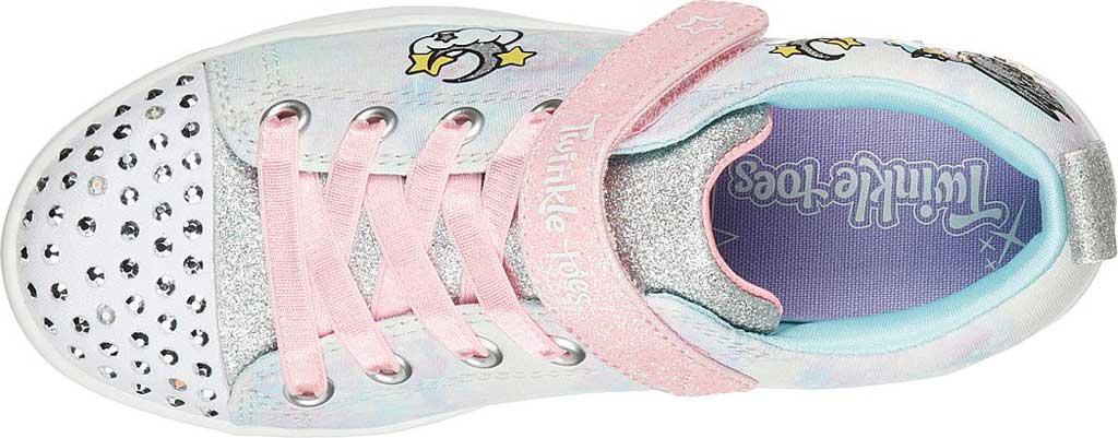 Girls' Skechers Twinkle Toes Sparkle Rayz Unicorn Moondust Sneaker, Light Blue/Multi, large, image 4