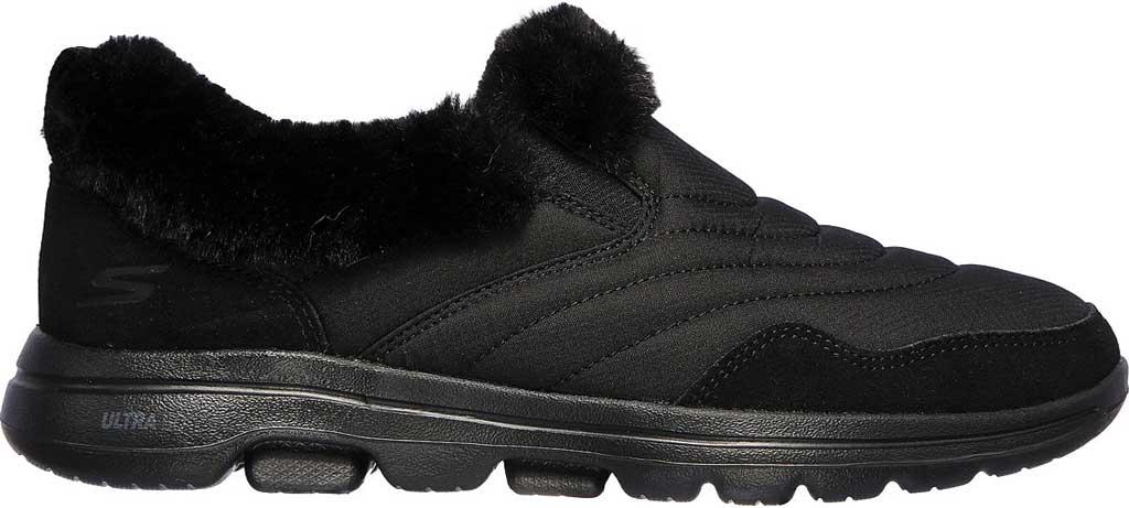 Women's Skechers GOwalk 5 Comfy Sneaker, Black/Black, large, image 2