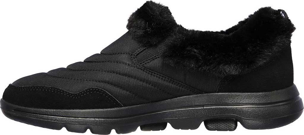 Women's Skechers GOwalk 5 Comfy Sneaker, Black/Black, large, image 3