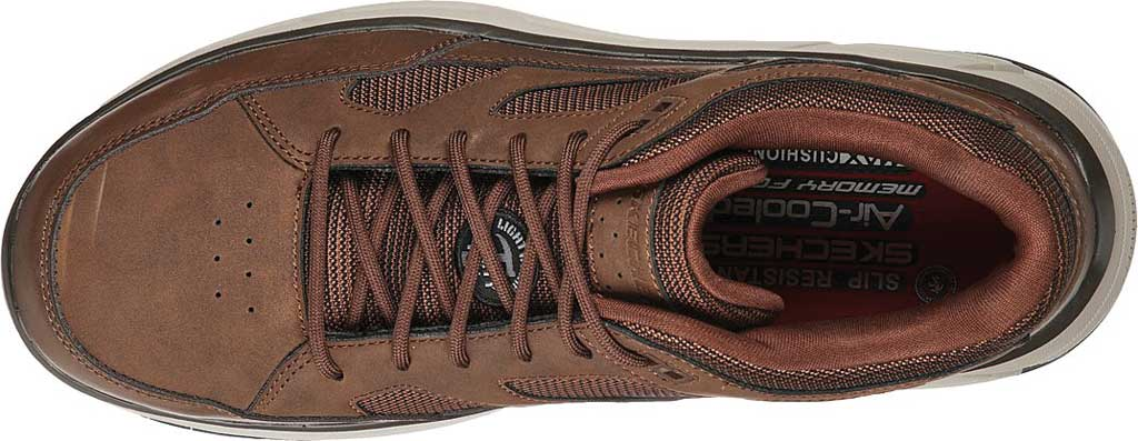 Men's Skechers Work Relaxed Fit Max Stout Alloy Toe Sneaker, Brown, large, image 4