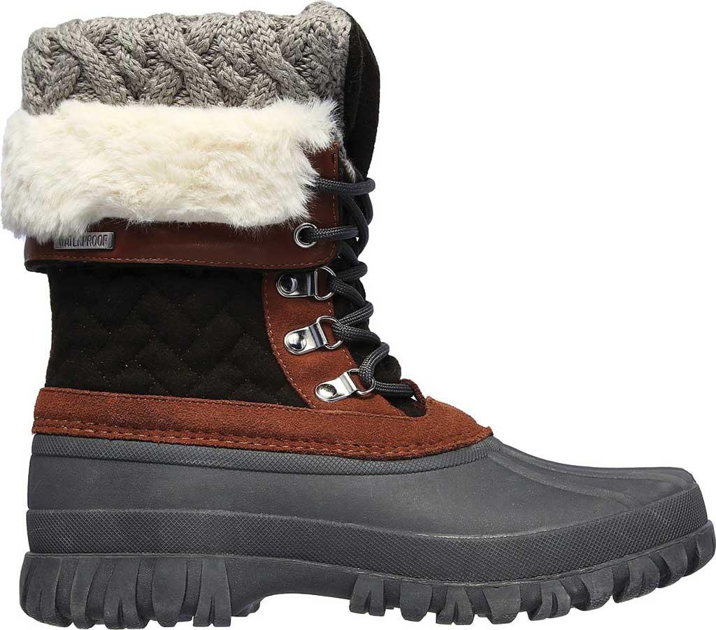 Women's Skechers Windom Pretty Waterproof Duck Boot, Olive/Gray, large, image 2