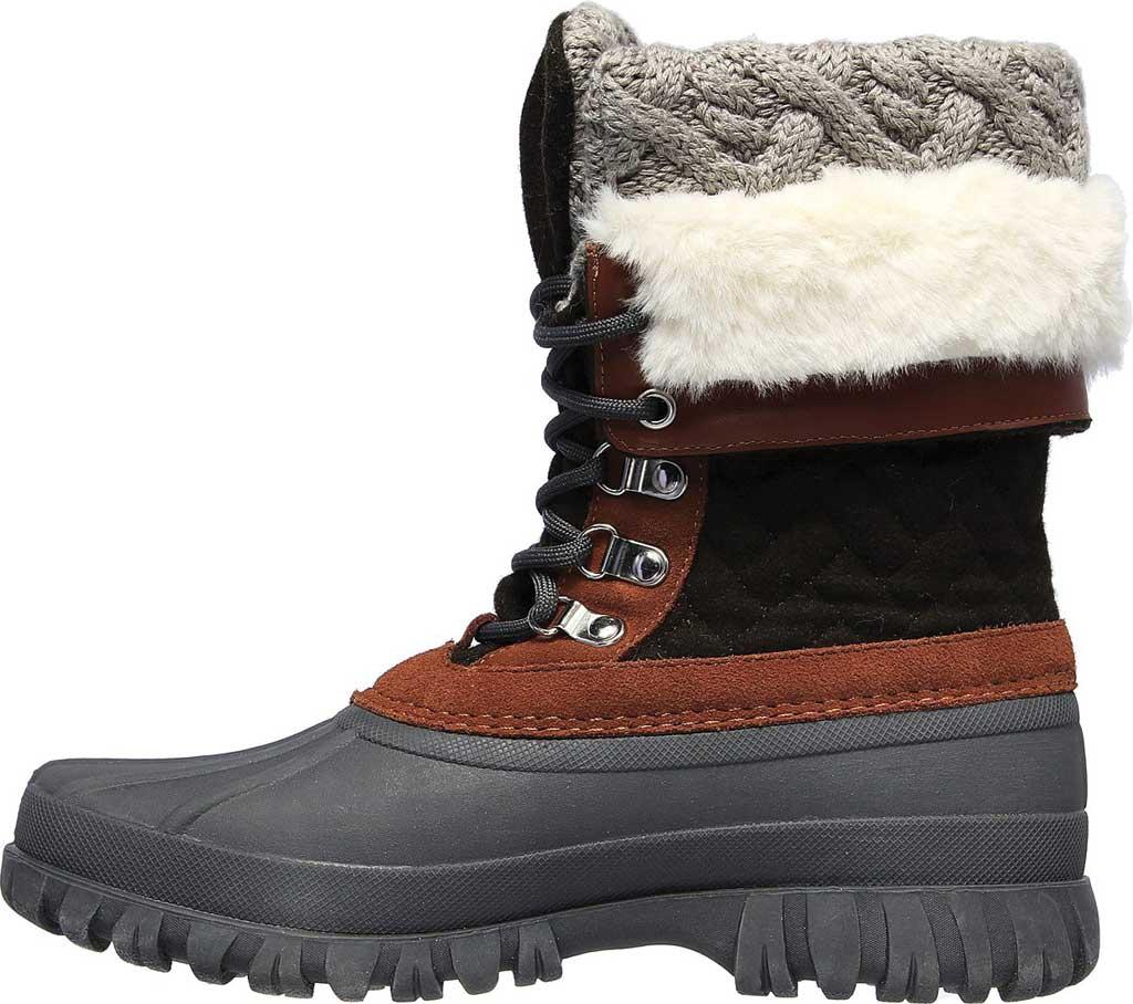 Women's Skechers Windom Pretty Waterproof Duck Boot, Olive/Gray, large, image 3