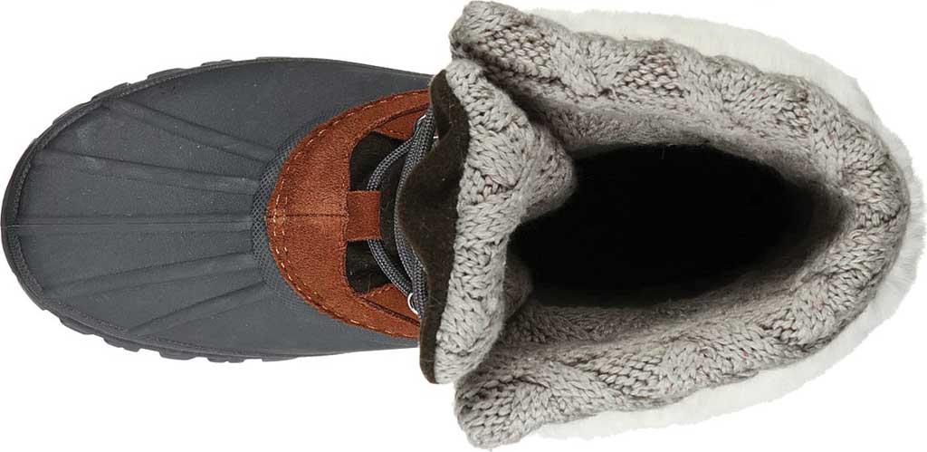 Women's Skechers Windom Pretty Waterproof Duck Boot, Olive/Gray, large, image 4