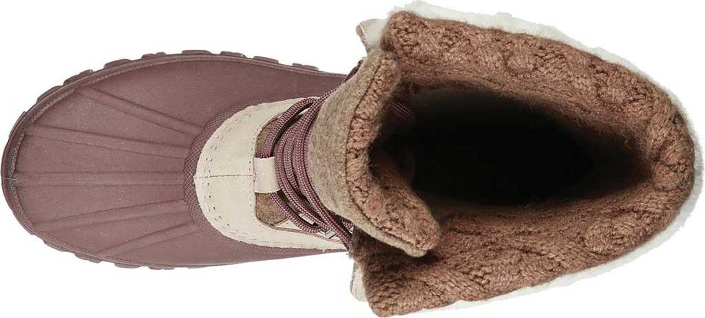 Women's Skechers Windom Pretty Waterproof Duck Boot, Natural/Purple, large, image 4