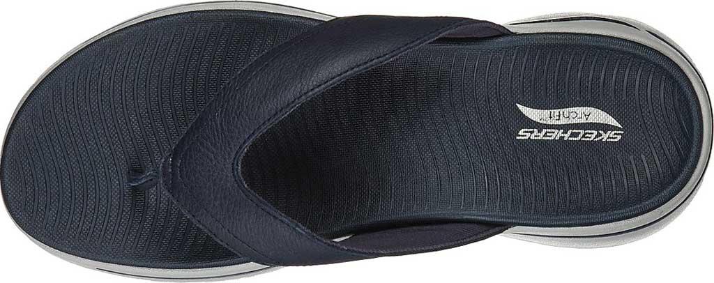 Men's Skechers GOwalk Arch Fit Flip Flop, Navy, large, image 4