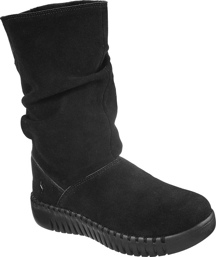 Women's Skechers GOwalk Smart High Value Mid Slouch Boot, Black/Black, large, image 1
