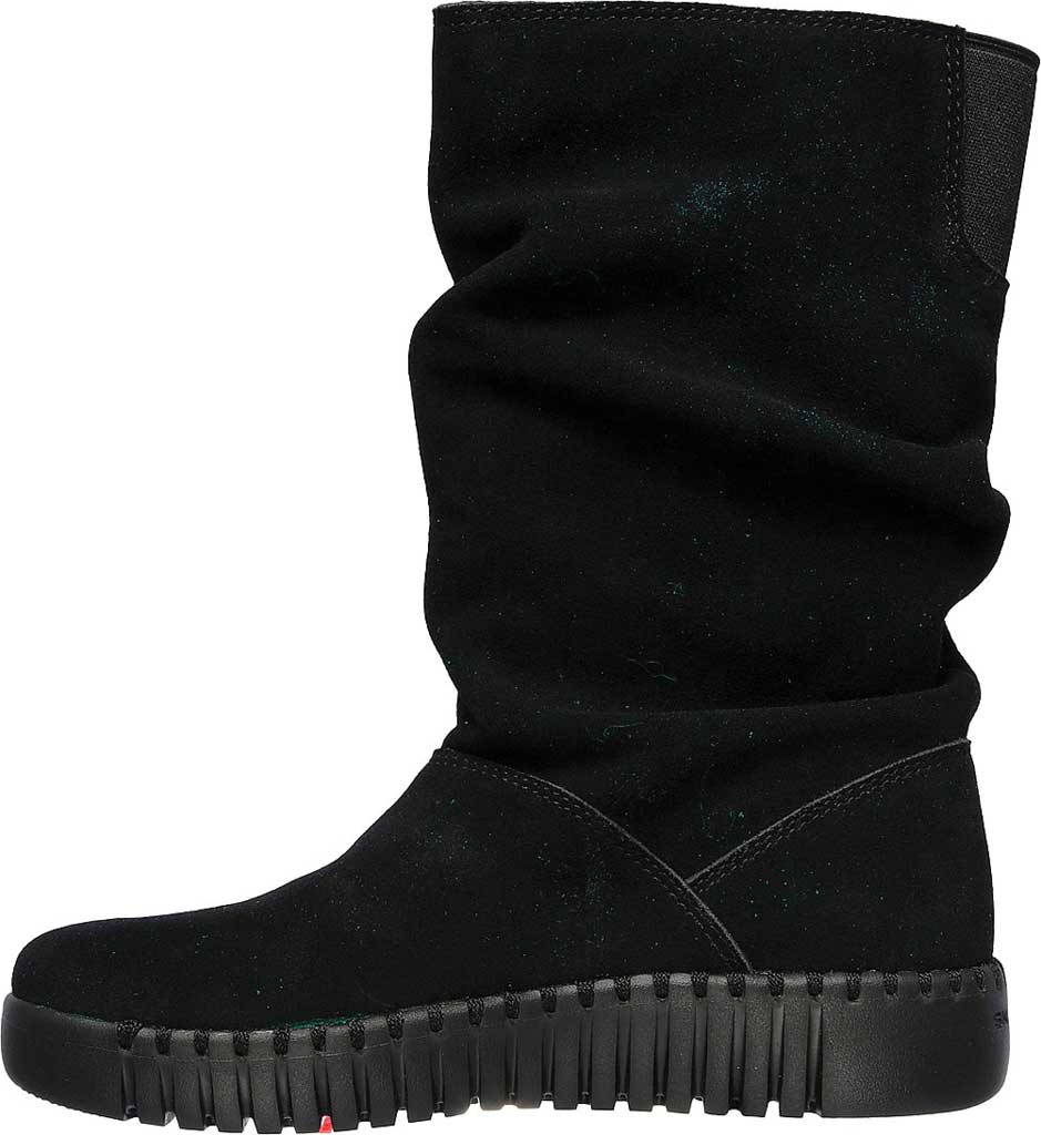 Women's Skechers GOwalk Smart High Value Mid Slouch Boot, Black/Black, large, image 3