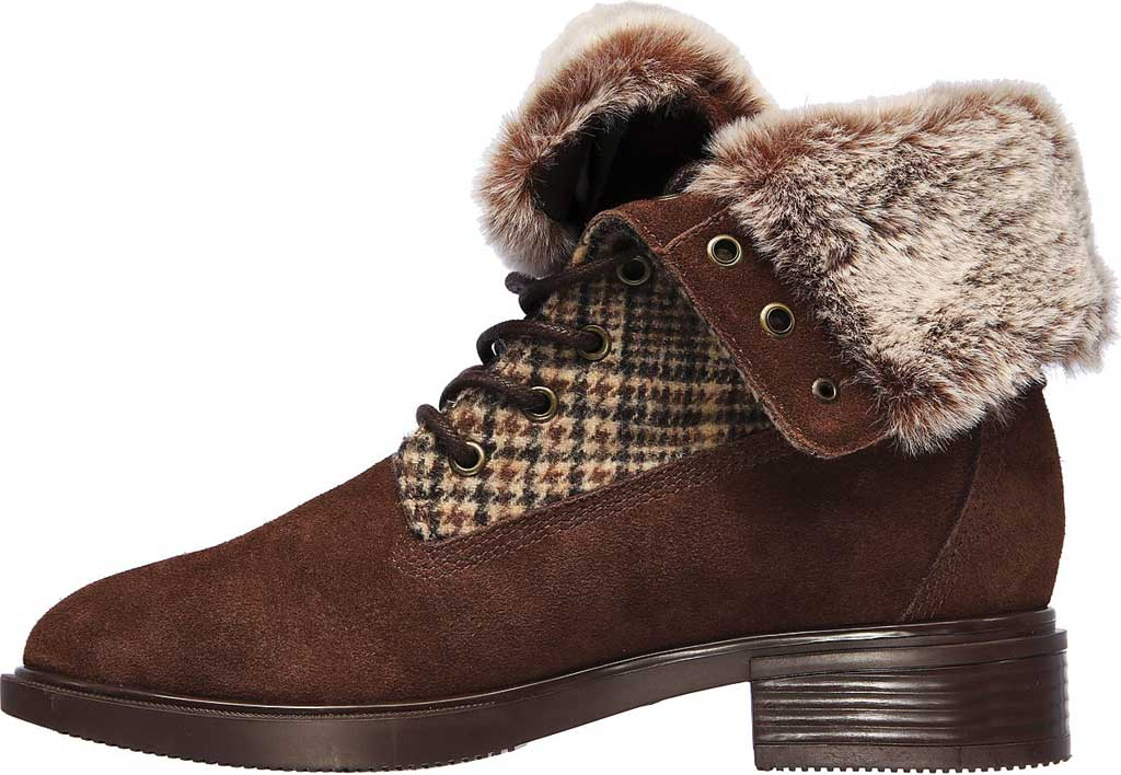 Women's Skechers Tenley Plaid Out Ankle Bootie, Brown, large, image 3