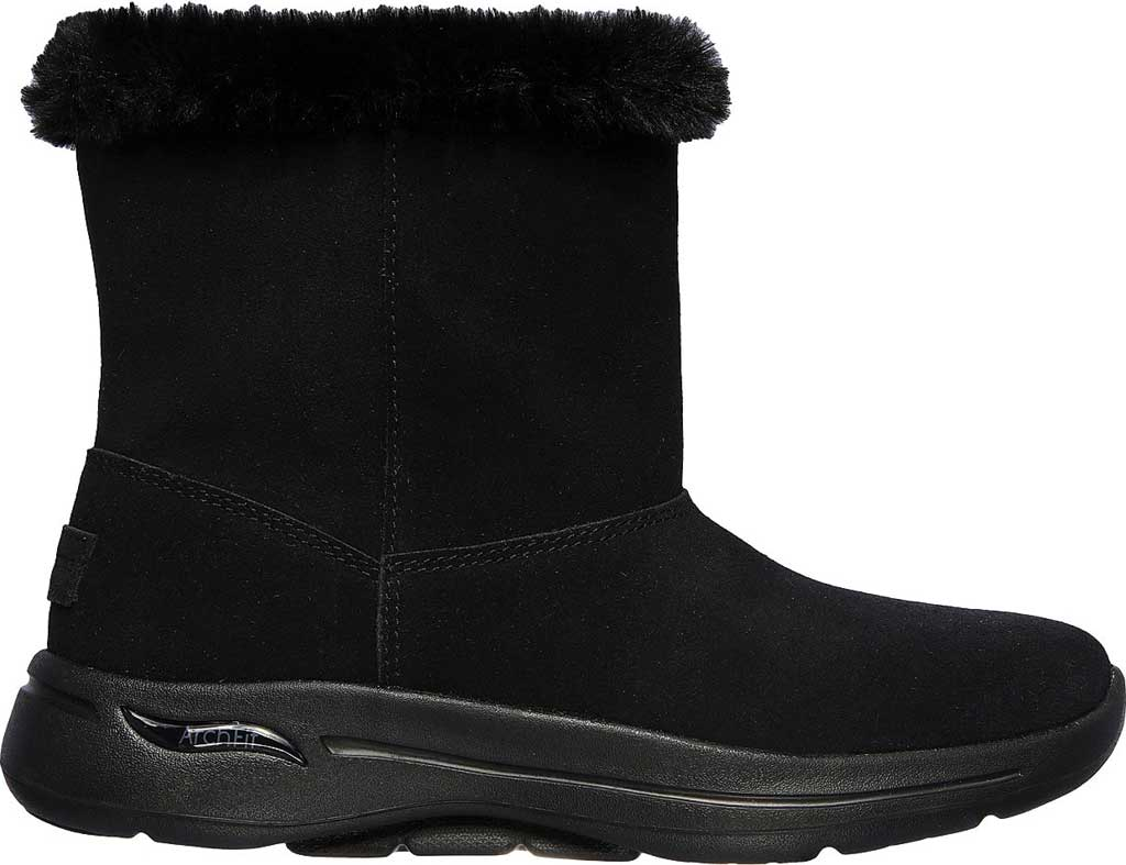Women's Skechers GOwalk Arch Fit Embrace Bootie, Black/Black, large, image 2