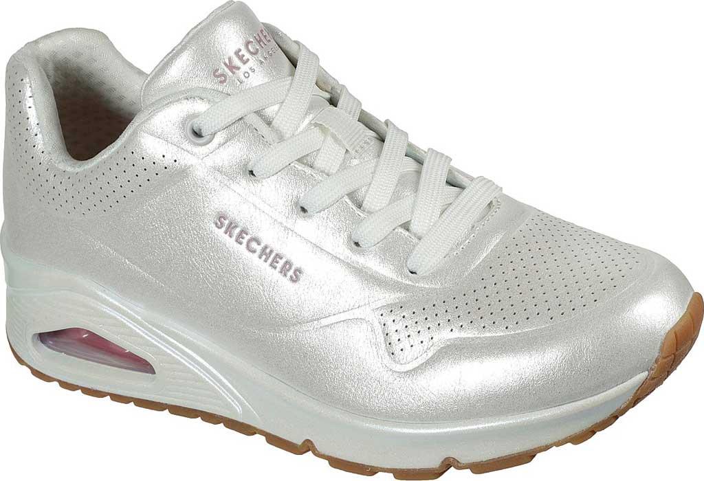 Women's Skechers Uno Pearl Queen Sneaker, White, large, image 1